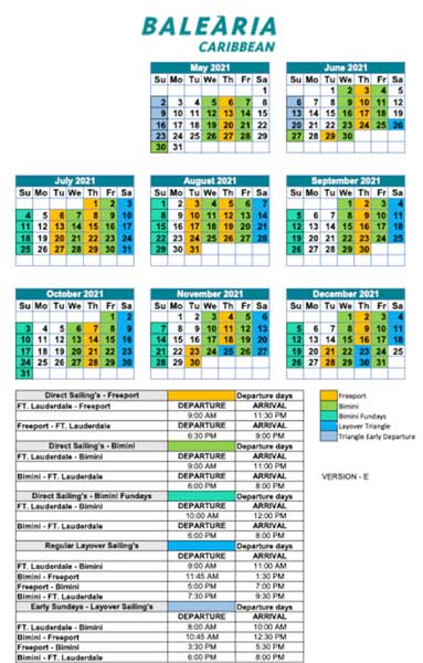 Bimini ferry 2021 schedule